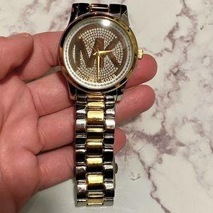 Michael Kors two tone unisex watch